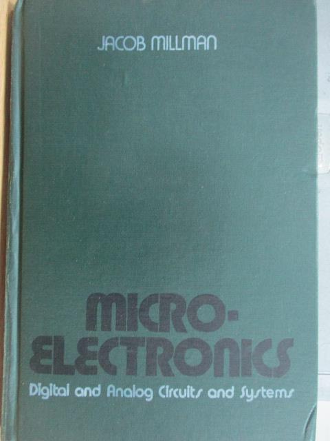 【書寶二手書T1/原文書_ZKD】Microlelctronics_Jacob millman