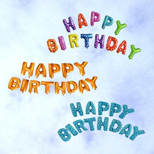 X射線【W275049】生日快樂字母錫箔氣球,派對/錫箔汽球/氣球/求婚/婚禮佈置/婚禮小物/慶生/園遊會/化妝舞會/攝影/寫真