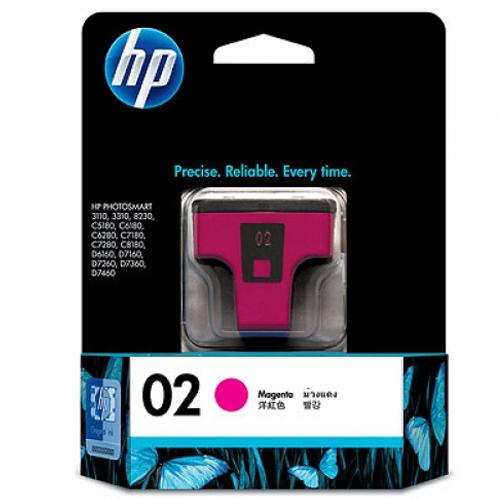 【HP 墨水匣】 C8772WA /NO.02  洋紅色原廠墨水匣