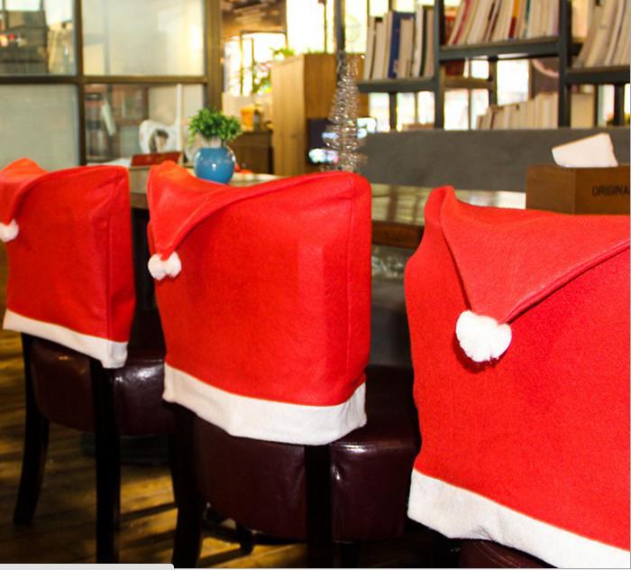 tangyizi輕鬆購【DS071】聖誕節聖誕老公公帽子椅套餐桌裝飾椅套飾品