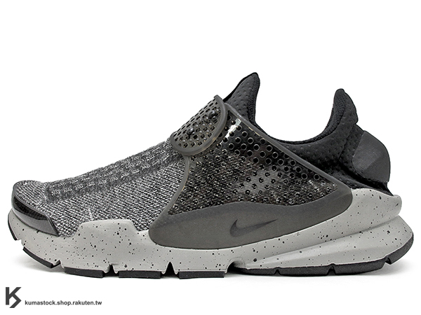 [26cm] 2016 NSW 藤原浩 提案設計 重新復刻 NIKE SOCK DART SE PREMIUM DUST GREY 灰黑 潑漆 秋冬毛料 慢跑鞋 HTM 襪子 FRAGMENT (859553-001) !