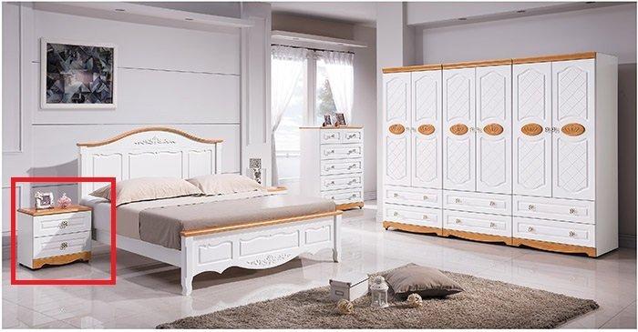 【尚品家具】 HY-A59-03 茉莉鄉村床頭櫃