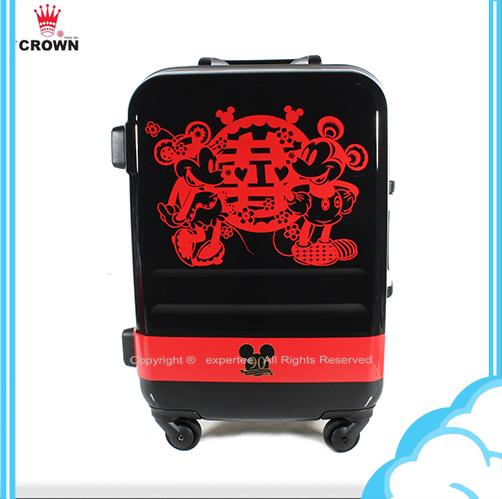 90週年紀念款【騷包館】【CROWN皇冠】19.5吋 Disney 米奇 3.1kg輕量高級蜜月旅行箱 C-FA029 行李箱 米老鼠