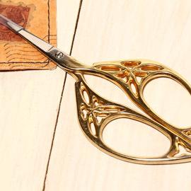 日本古典復古風剪刀-金色蕾絲圈圈