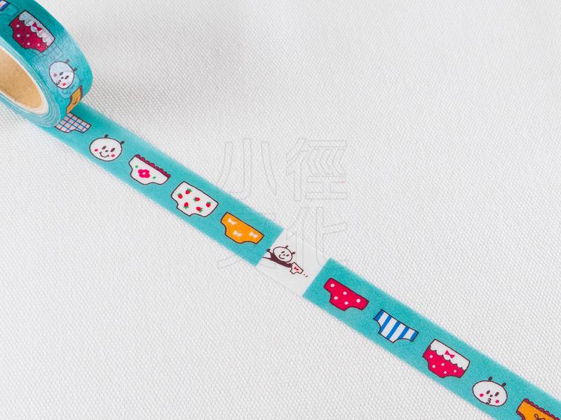 *小徑文化*日本進口 mizutama 原創和紙膠帶 - 內褲_BL ( 35-605 )