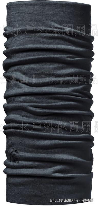 [ Buff ] 健行/滑雪/出國/旅遊 西班牙 魔術頭巾 素色美麗諾羊毛 WOOL BUFF 100637 黑色幽默