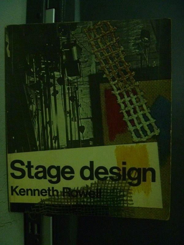 【書寶二手書T2/藝術_OQV】Stage Design_Kenneth Rowell_1971_289277582