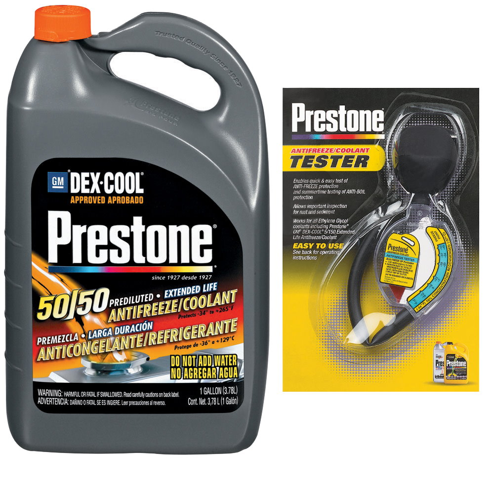 Prestone百適通極限競技型長效防凍冷卻液/水箱精AF850+Prestone水箱精濃度檢測器AF-1420