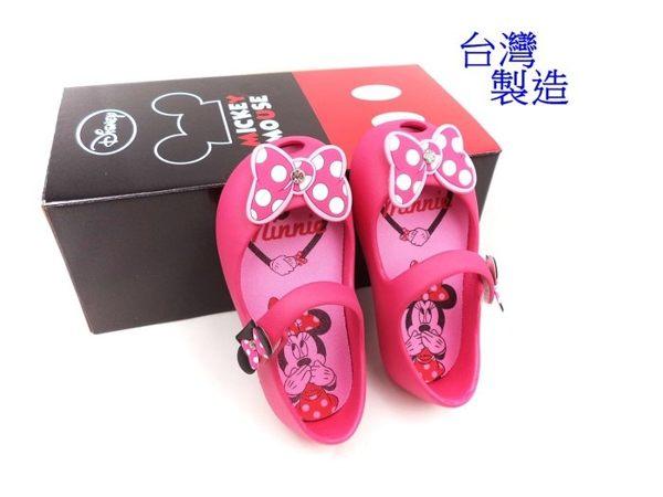 EMMA商城~兒童Disney迪士尼Q軟.輕量防水兩用.娃娃鞋台灣製童鞋桃色