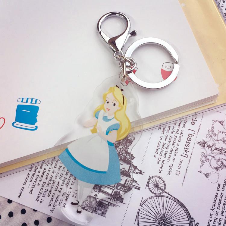 PGS7 (現貨+預購) 迪士尼系列商品 - 迪士尼 公主 壓克力 吊飾 鑰匙圈 (小) 小吊飾 愛麗兒 愛麗絲 白雪公主