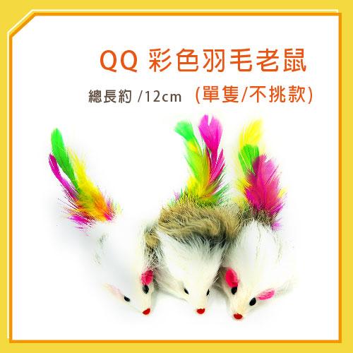 【力奇】QQ 彩色羽毛鼠(單隻) (WE220191)-20元【隨機出貨,恕不挑色】 可超取(I002E46)