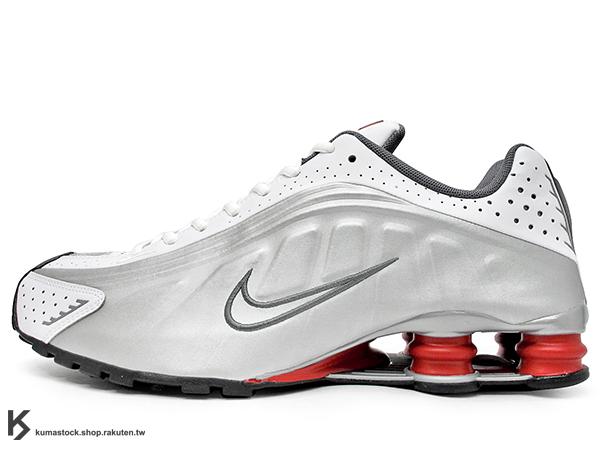 NSW 經典復刻 2014 秋冬 台灣未發售 NIKE SHOX R4 白銀 白銀紅 原版 OG 配色 彈簧鞋 慢跑鞋 (104265-126) !