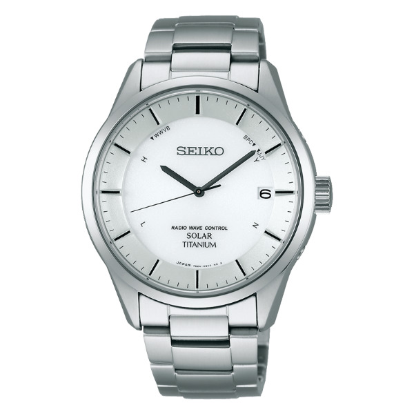 Seiko Spirit 7B24-0BB0S(SBTM207J)鈦金屬電波領袖腕錶/白面40mm