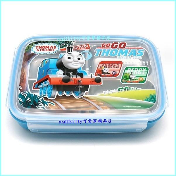 asdfkitty可愛家☆湯瑪士樂扣型防燙有蓋304不鏽鋼餐盤便當盒-4格型-韓國製