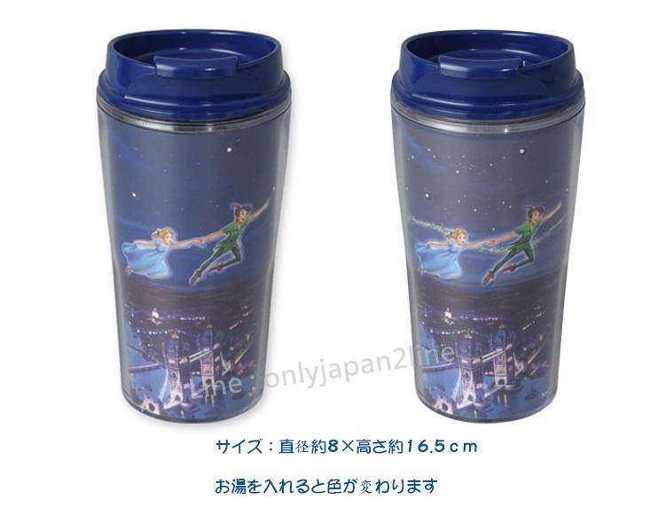 【真愛日本】12/1販售-樂園限定變色隨手杯-夜空飛翔   迪士尼 樂園限定 小精靈  小飛俠 彼得潘   預購
