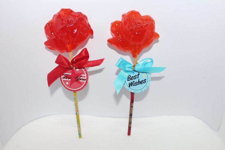 大玫瑰造型麥芽籤 30g/支 - 余大叔麥芽餅