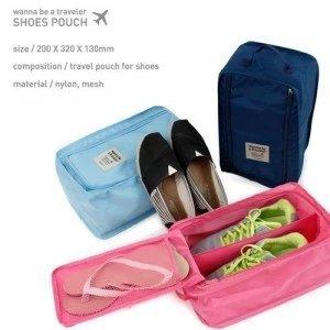 【瞎買天堂x旅行必備】旅行鞋子防水收納盒 收納袋 可放一雙鞋子及一雙拖鞋喔!【BGAA0304】