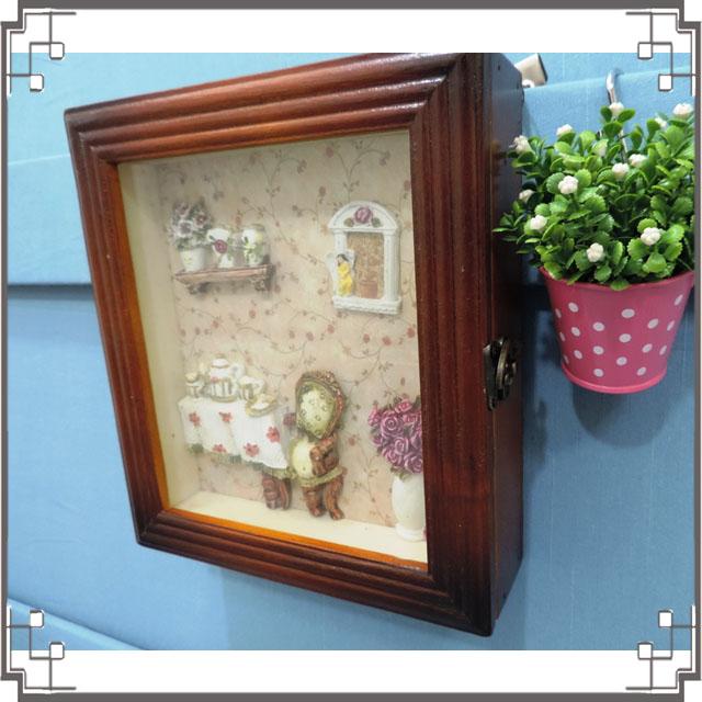 木製田園KEY BOX《WK1-4》鄉村鑰匙盒 木製鑰匙盒 壁櫃 收納櫃 壁飾◤彩虹森林◥