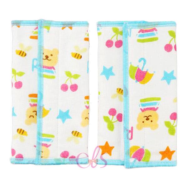 日本 RAINBOW BEAR 彩虹熊 背巾揹帶磨牙/口水巾 約16*22cm 一般揹巾皆可適用 藍 ☆艾莉莎ELS☆