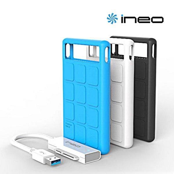 *╯新風尚潮流╭* 傳揚 ineo USB 3.0 多彩防震防摔 2.5吋 行動硬碟外接盒 I-NA218