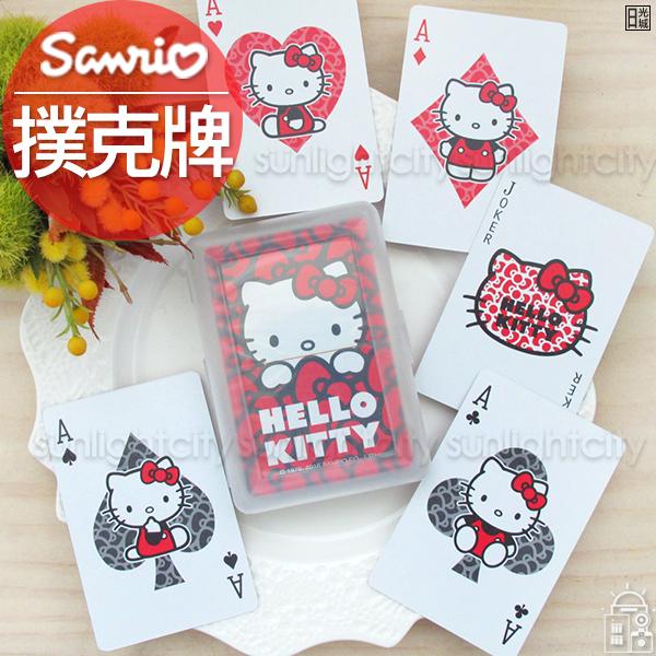 【新年限定】日光城。Hello Kitty撲克牌,遊戲牌poker桌遊卡片遊戲三麗鷗凱蒂貓紙牌 益智聖誕禮物