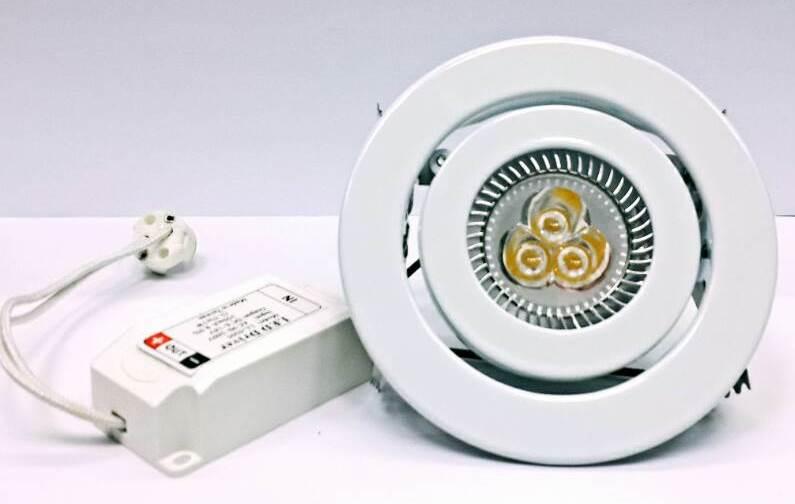 嵌燈★5W LED MR16 9公分 崁燈組含安定器 白光 黃光★永旭照明KS-1158-CNS-5WD/L-1uf