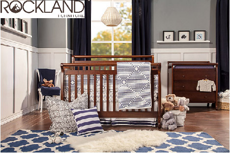 【Rockland】艾蜜莉四合一大床(褐色)-附贈床墊+床側護欄(預購11月中到貨)