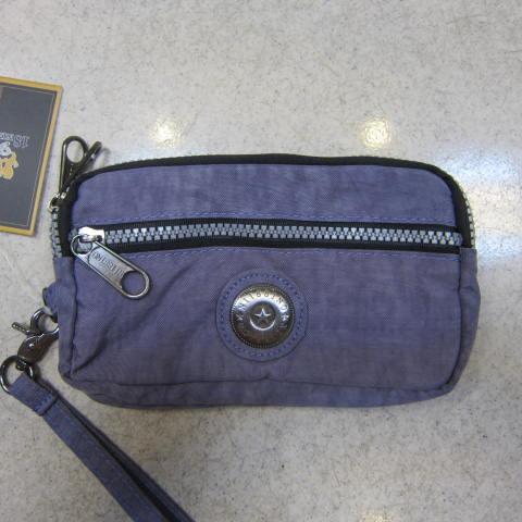~雪黛屋~18NINO81零錢包進口專櫃二層主袋設計進口超輕防水布可放信用卡萬用包小型輕巧方便手拿KS-S037淺紫