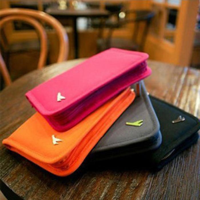 【酷創意】韓流新款 短款護照包 證件夾 卡包 旅行多功能收納包(E27)