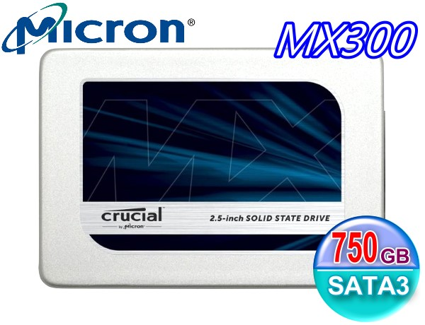 Crucial 美光 Micron SSD MX300 TLC 7mm 750G 750GB SATA3 固態硬碟