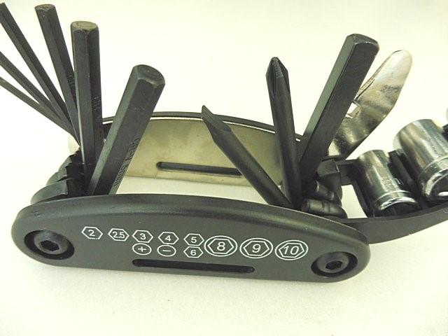 【進階版】CR-V材質13合1折疊工具組 自行車多功能工具單車工具組內外六角螺絲刀扳手組合裝備配件自行車用品