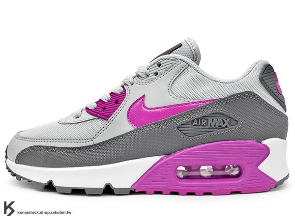2015 NSW 經典復刻鞋款 人氣商品 NIKE WMNS AIR MAX 90 ESSENTIAL 女鞋 灰紫 皮革 尼龍網布 透氣薄鞋舌 (616730-013) !