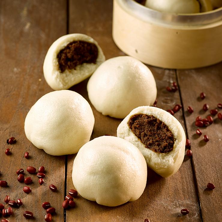 【甜蜜紅豆包】1包5入(每顆約105克+/-5克) ▶玉食堂手工養生包子饅頭