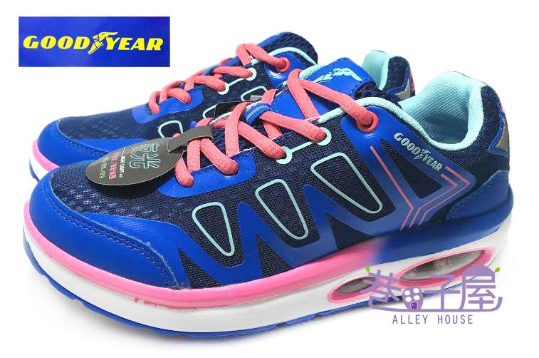 【巷子屋】GOODYEAR固特異 女款夜光律動減壓氣墊健走鞋 [52706] 藍 超值價$690