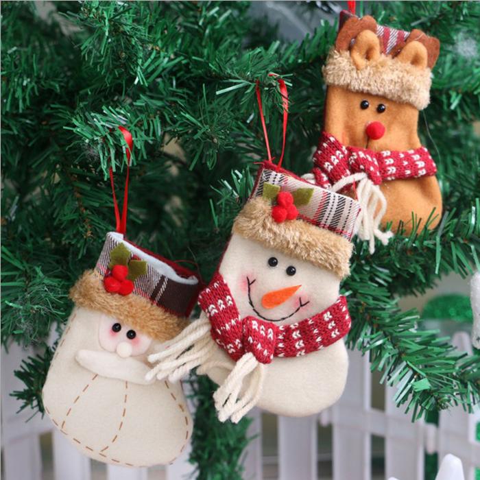 糖衣子輕鬆購【DS190】聖誕襪子禮物聖誕樹裝飾品掛飾老人雪人麋鹿-小號