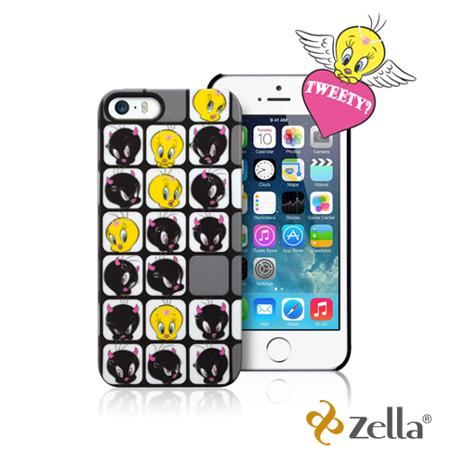[福利品] Zella iPhone5/5S Tweety天使與魔鬼系列保護殼-黑灰