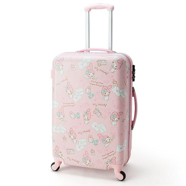 【真愛日本】16061600003行李箱L-MM信封粉   三麗鷗家族 Melody 美樂蒂  行李箱 登機箱
