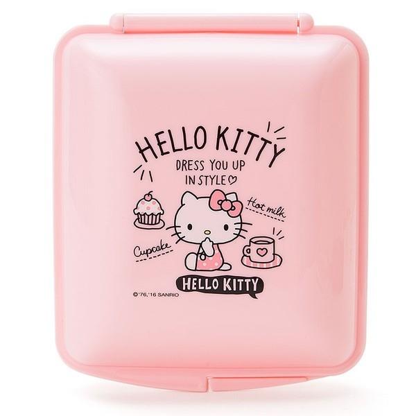 【真愛日本】16082500018  日本製食物收納盒方-KT粉    三麗鷗 Hello Kitty 凱蒂貓  便當盒 餐盒 餐具