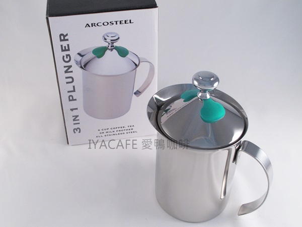 《愛鴨咖啡》 Arcosteel 頂級玩家型 不銹鋼 手動 奶泡器 發泡器 920cc 附防燙葉片