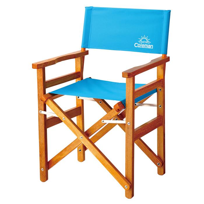 【露營趣】中和 Coleman CM-26761 懷舊風經典木椅/綠松石 折疊椅 摺疊椅 休閒椅 導演椅