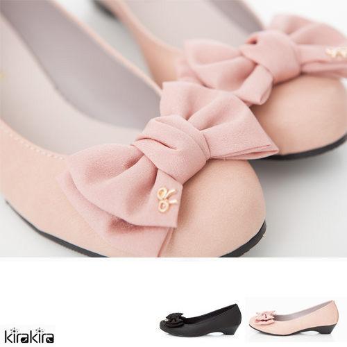 娃娃鞋 SALE 公主系雪紡雙蝴蝶結低跟鞋  現+預
