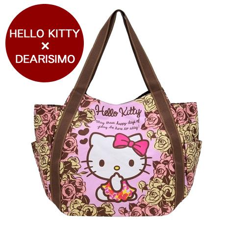 HELLO KITTY × DEARISIMO 聯名托特包-玫瑰
