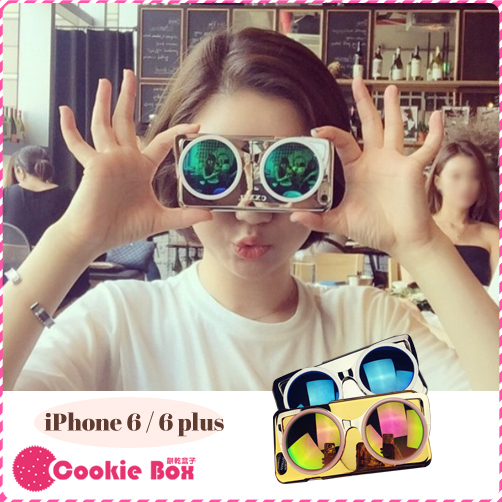 *餅乾盒子* 韓國 CXXEL 墨鏡 手機殼 iphone 6 6S plus 東大門 太陽眼鏡 3D 立體 保護殼 明星