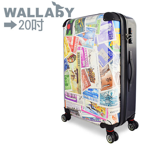 【JOHOYA】20吋-旅行郵票可DIY換殼行李箱HTX-1520 *硬殼行李箱*mit台灣製造