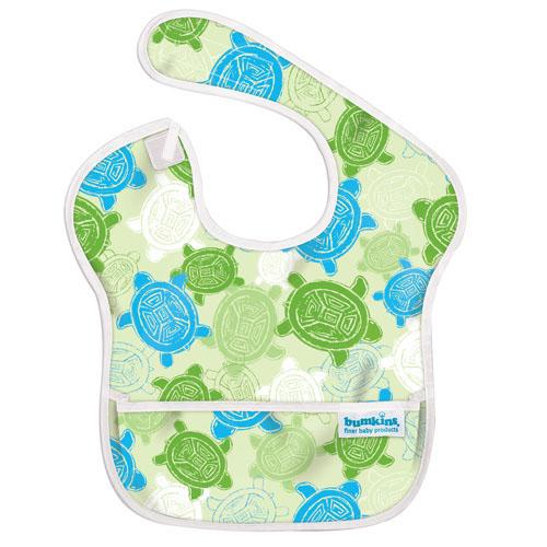 【淘氣寶寶】2016年最新 美國Bumkins防水兒童圍兜(一般無袖款6個月~2歲適用)-小烏龜 【保證公司貨】