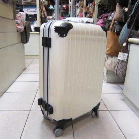 ~雪黛屋~NINO1881美國24吋ABS+PC硬殼拉桿行李箱 8輪加大寬輪設計 平穩好推拉#2568白