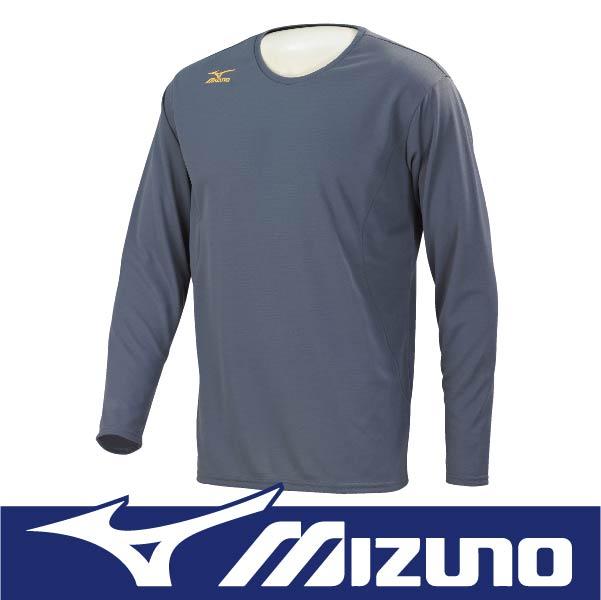 萬特戶外運動 MIZUNO 美津濃 32MA664307 男長袖發熱T恤 抗紫外線UPF30 保暖 灰色