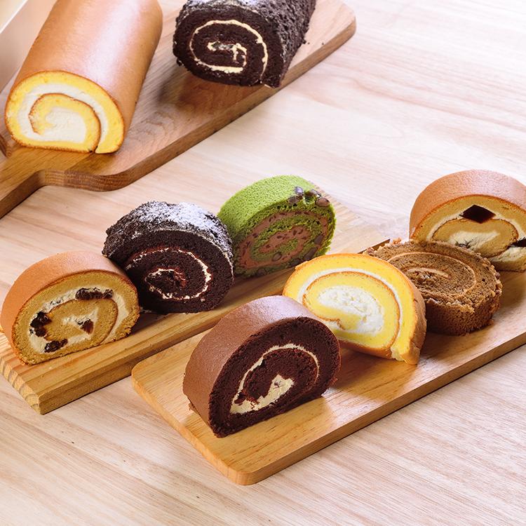 日式手作蛋糕捲切片組(6片)★彌月禮 試吃組★食尚玩家、蘋果日報 等推薦【布里王子】
