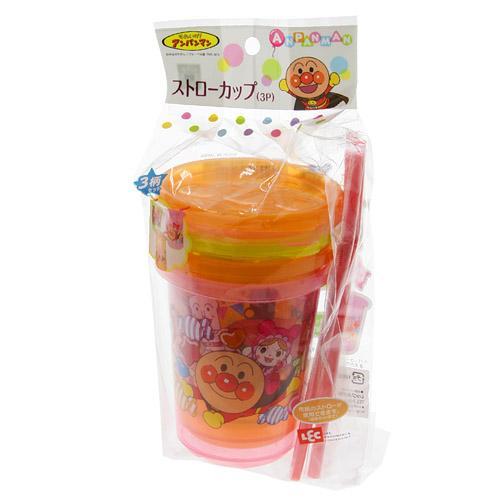 『日本代購品』 第二代 麵包超人防漏吸管杯 冰冷飲專用 3P入 日本製