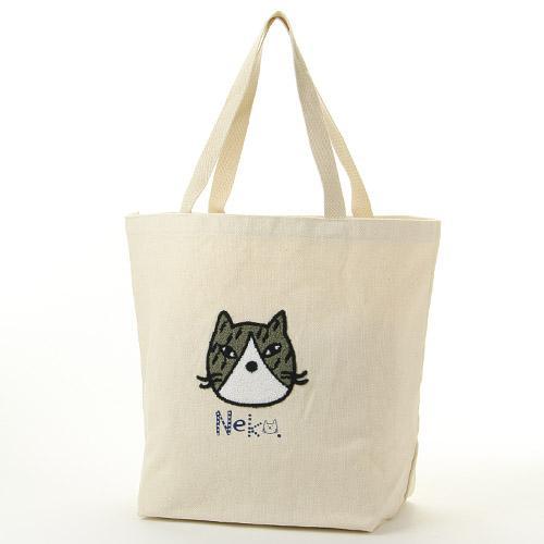 neko貓咪刺繡帆布包/賓士貓